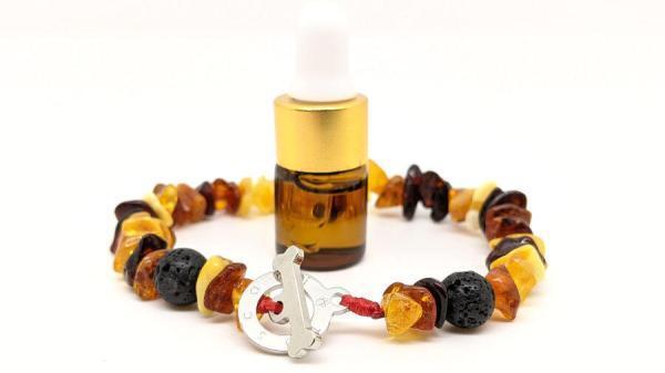 bracciale ambra e lava con oli essenziali toscani store 3