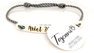 tag toscani sostituto medaglietta riconoscimento con paracord senza tentennamento waterproof colore bianco