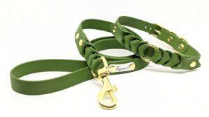 completo toscani store linea Armonia boutique collare e guinzaglio per cane intrecciato a mano modello Fibbia regolabile