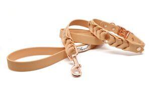 completo toscani store linea armonia boutique collare e guinzaglio per cane intrecciato a mano modello clip fisso