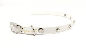 collare toscani store per cani talgia piccola maestà bianco con strass argento aperto_sito