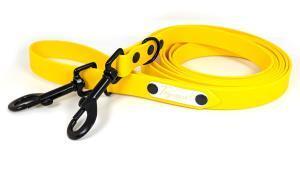 guinzaglio addestramento per cani toscani store 20mm giallo canarino con minuterie zinco nero dark