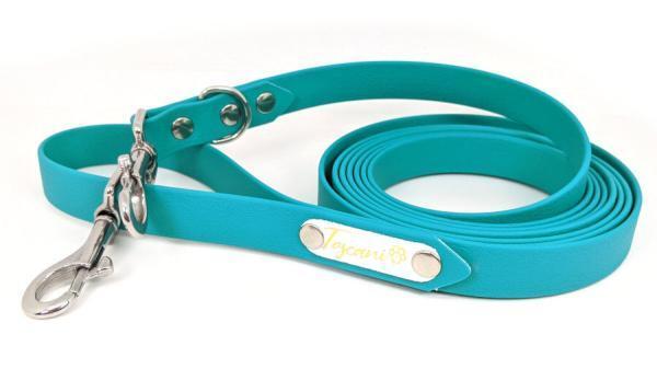 guinzaglio addestramento per cani toscani store 20mm smeraldo con minuterie zero ruggine acciaio inox
